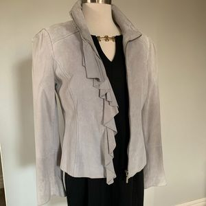 EUC WHBM Suede grey jacket